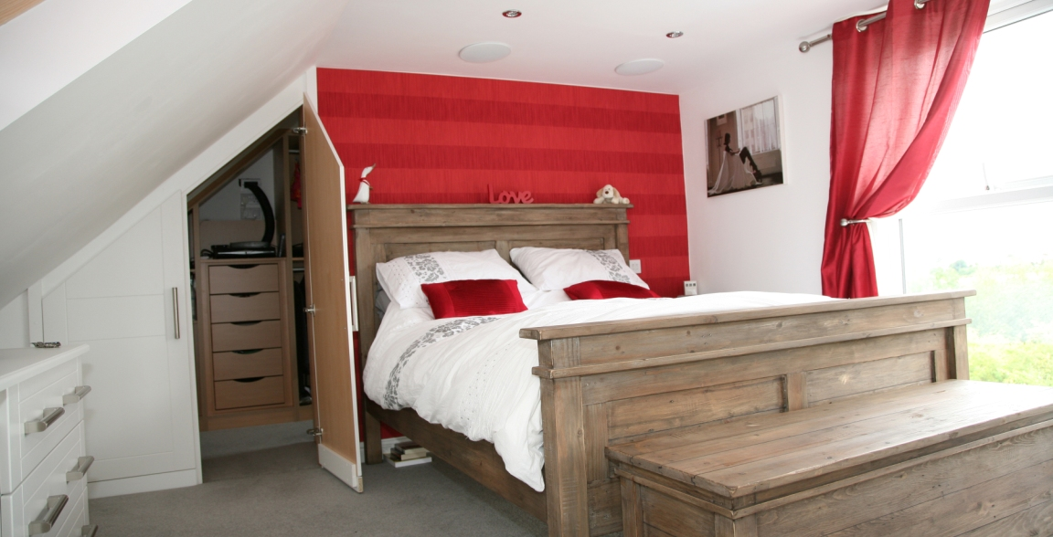 Dormer loft conversion access lofts Master bedroom ensuite and wardrobe