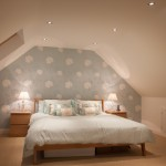 reading bedroom with lights