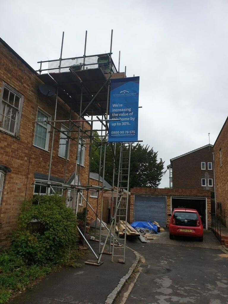 loft scaffold banner